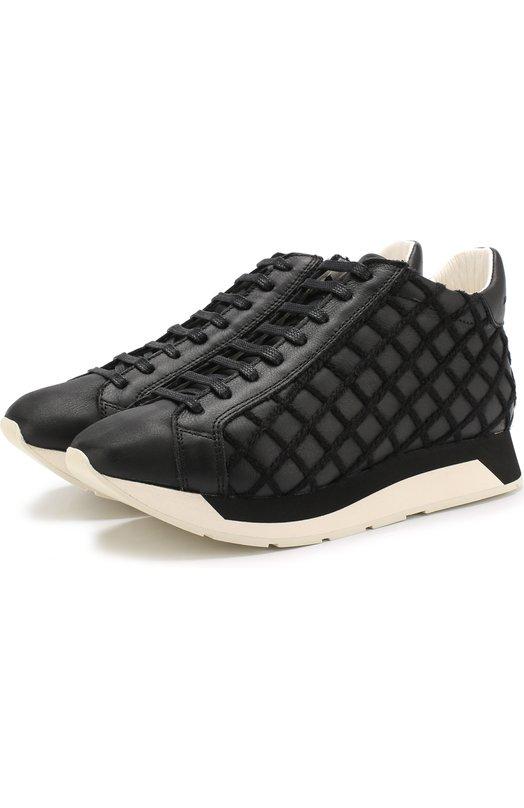 Купить Кожаные кроссовки Alida на шнуровке Manuel Barcelo, ALIDA-ES NAPA/W00L, Испания, Черный, Подошва-резина: 100%; Подкладка-кожа: 100%; Кожа: 100%;