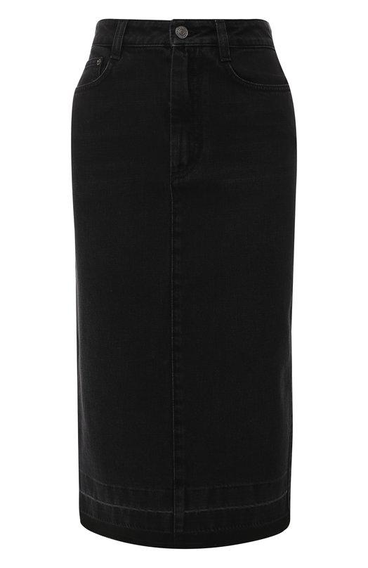 Купить Джинсовая юбка с потертостями Givenchy, BW4062506W, Италия, Черный, Хлопок: 100%;