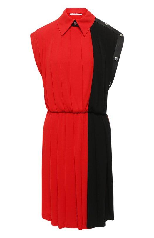 Купить Приталенное мини-платье в складку Givenchy, BW20AN307C, Италия, Красный, Вискоза: 72%; Полиэстер: 28%;