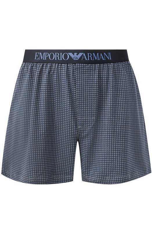 Хлопковые боксеры свободного кроя Emporio Armani