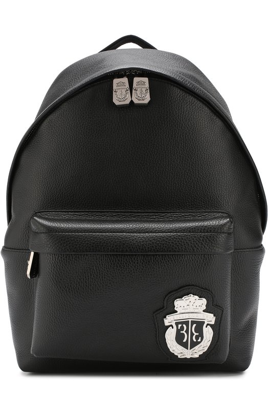 Купить Кожаный рюкзак Jun с внешним карманом на молнии Billionaire, W18A MBA0503 BLE010N, Италия, Черный, Кожа: 100%;