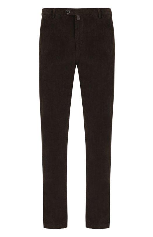Купить Хлопковые брюки прямого кроя Kiton, UFPP79J02R74, Италия, Коричневый, Хлопок: 98%; Эластан: 2%;