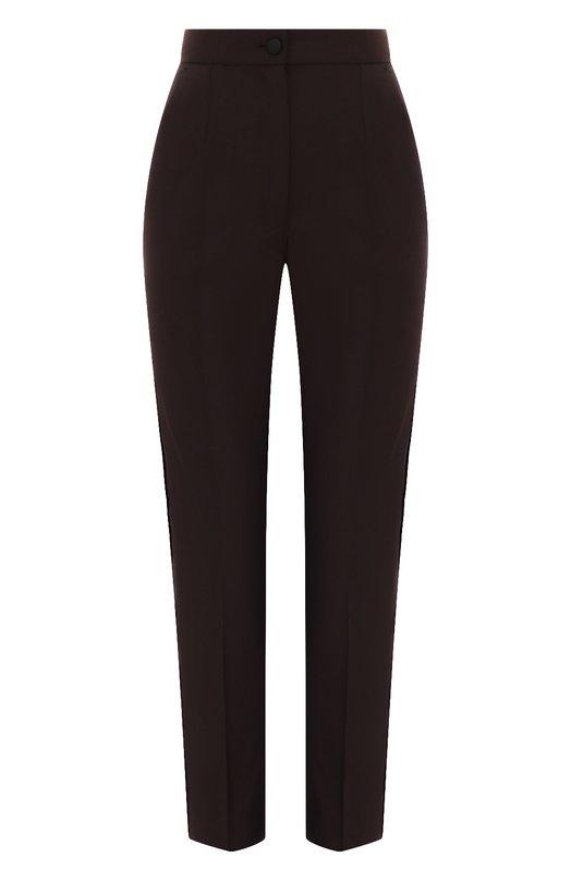 Купить Шерстяные брюки со стрелками Dolce & Gabbana, FTAM2T/FUBBG, Италия, Бордовый, Шерсть: 98%; Эластан: 2%;
