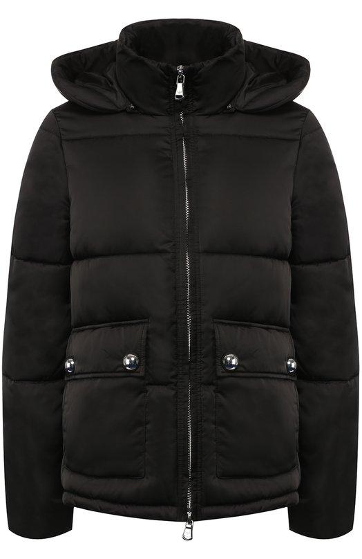 Купить Стеганая куртка с капюшоном и воротником-стойкой Emporio Armani, 6Z2B78/2NQKZ, Китай, Черный, Полиэстер: 100%; Подкладка-полиэстер: 100%;