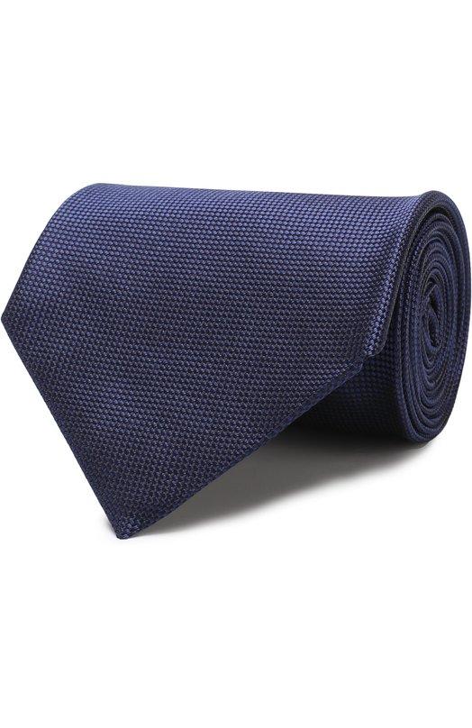 Купить Шелковый галстук Ermenegildo Zegna, Z4D01/1XW, Италия, Темно-синий, Шелк: 100%;