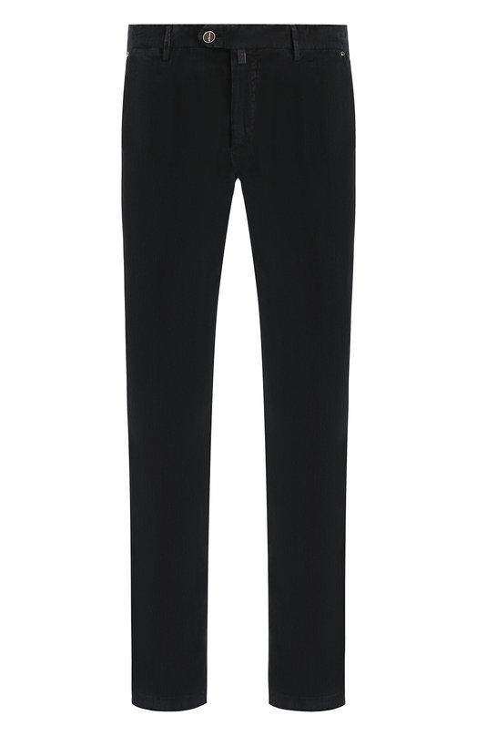 Купить Хлопковые брюки прямого кроя Kiton, UFPP79J02R74, Италия, Черный, Хлопок: 98%; Эластан: 2%;