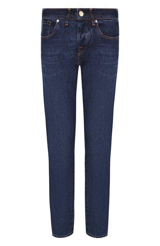 Купить Укороченные джинсы с потертостями Two Women In The World, FANNY/THMX1, Италия, Синий, Хлопок: 100%;