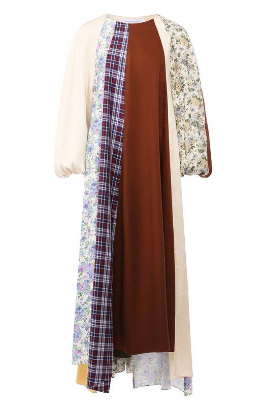 Купить Платье свободного кроя с принтом Walk of Shame, D016-PF18, Россия, Разноцветный, Вискоза: 100%; Подкладка: хлопок: 100%;