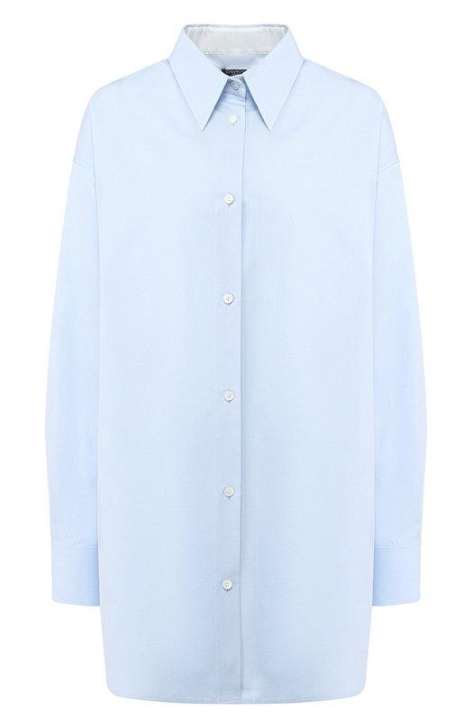 Купить Удлиненная хлопковая блуза CALVIN KLEIN 205W39NYC, 83WWTC78/C038, Италия, Голубой, Хлопок: 100%;