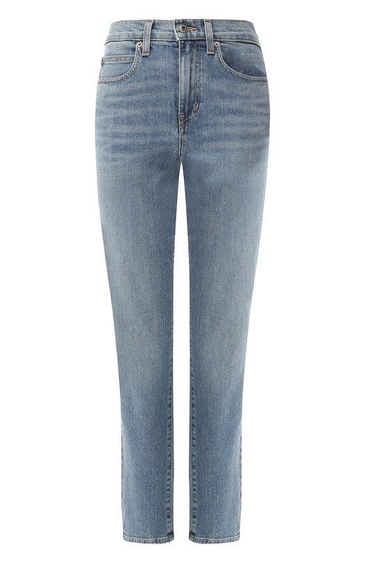 Купить Укороченные джинсы с потертостями Proenza Schouler, WL1839095-DC009, США, Голубой, Хлопок: 98%; Полиуретан: 2%;