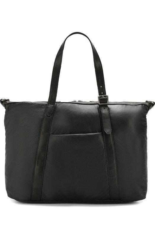 Купить Кожаная дорожная сумка с плечевым ремнем Giorgio Brato, BS19F2808PAD, Италия, Черный, Кожа: 100%;