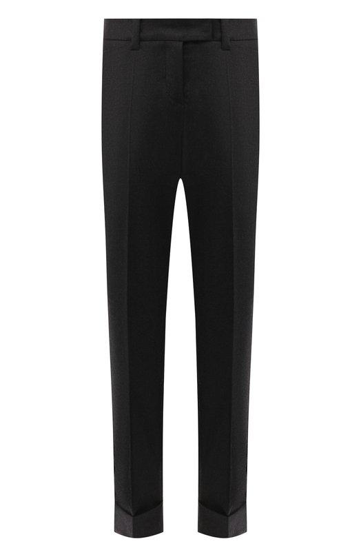 Купить Шерстяные брюки со стрелками и отворотами Windsor, 52 DHE517 10001285, Польша, Темно-серый, Шерсть: 98%; Эластан: 2%;
