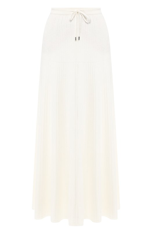 Купить Кашемировая юбка-миди с эластичным поясом Loro Piana, FAI1801, Италия, Белый, Кашемир: 100%;