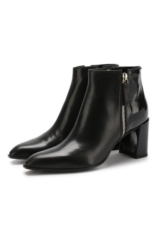 Кожаные ботильоны на устойчивом каблуке Premiata, M5015/VIT.AGNELLAT0+NAPLACK, Италия, Черный, Подошва-кожа: 80%; Подошва-резина: 20%; Подкладка-кожа: 100%; Кожа: 100%;  - купить