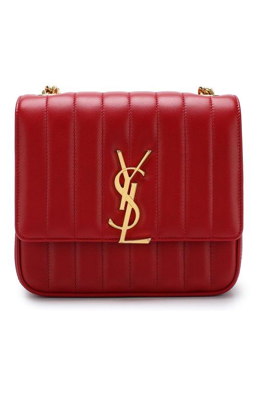 Купить Сумка Vicky medium Saint Laurent, 532612/0YD0J, Италия, Красный, Кожа натуральная: 100%;