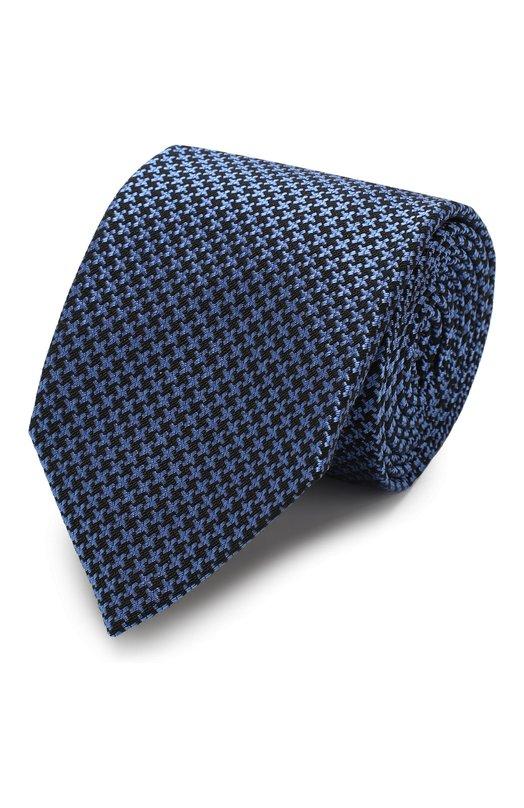 Купить Галстук из смеси шелка и шерсти Tom Ford, 4TF32/XTM, Италия, Голубой, Шелк: 53%; Шерсть: 47%;