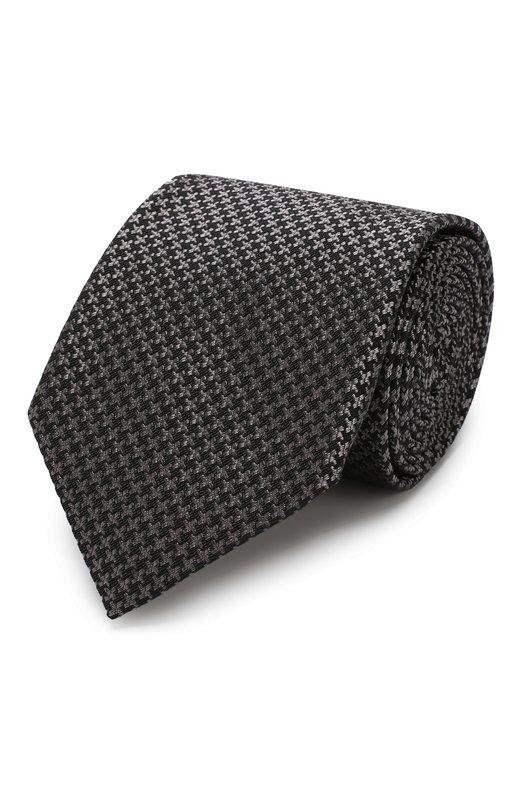 Купить Галстук из смеси шелка и шерсти Tom Ford, 4TF32/XTM, Италия, Темно-серый, Шелк: 53%; Шерсть: 47%;