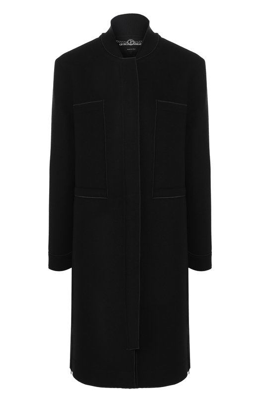 Купить Пальто из смеси шерсти и хлопка Giorgio Armani, 8WH0L00H/T001I, Италия, Черный, Шерсть: 98%; Шелк: 2%; Подкладка-шелк: 100%;