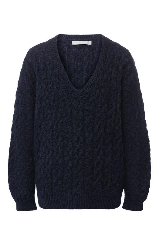 Вязаный пуловер с V-образным вырезом Vince