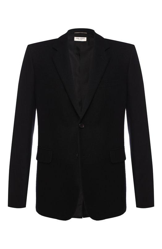 Однобортный шерстяной пиджак Saint Laurent