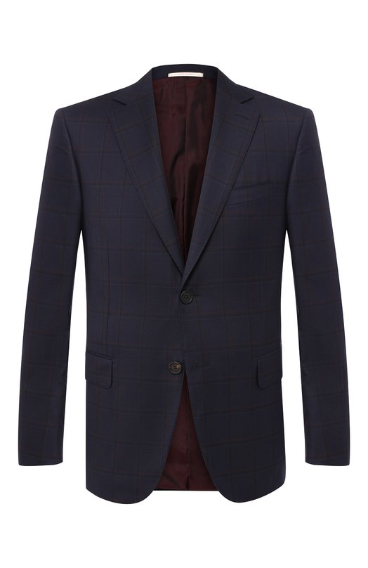 Купить Однобортный шерстяной пиджак Pal Zileri, N32X022-2--41934, Италия, Темно-синий, Шерсть: 100%;
