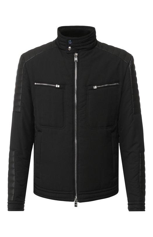 Купить Стеганая куртка на молнии с воротником-стойкой BOSS, 50396365, Украина, Черный, Полиэстер: 100%;
