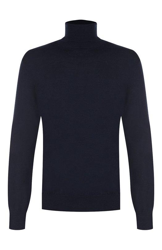 Купить Однотонная шерстяная водолазка Polo Ralph Lauren, 710715989, Китай, Темно-синий, Шерсть: 100%;