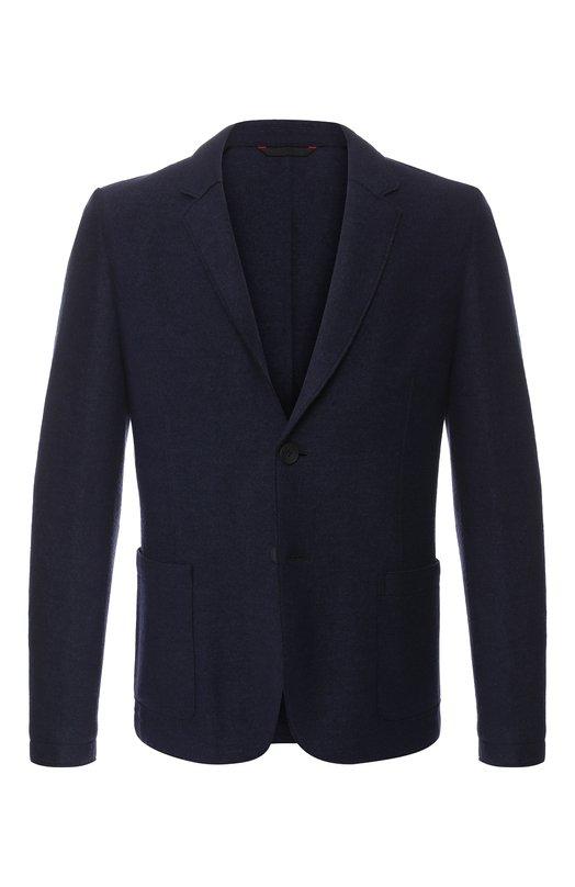 Купить Однобортный пиджак из смеси шерсти и вискозы HUGO, 50394840, Украина, Темно-синий, Шерсть: 55%; Вискоза: 45%;