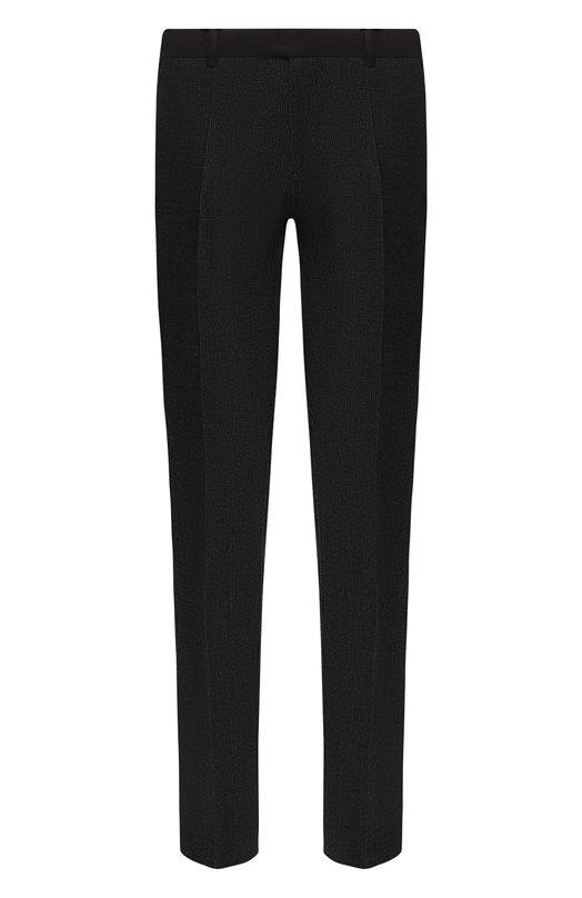 Купить Шерстяные брюки прямого кроя Emporio Armani, 11P0N0/11690, Болгария, Серый, Шерсть: 99%; Эластан: 1%;
