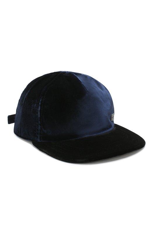 Купить Бейсболка из вискозы Emporio Armani, 627342/8A605, Италия, Темно-синий, Вискоза: 100%;