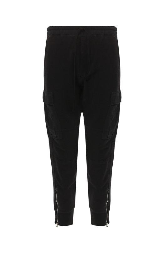 Купить Хлопковые брюки карго с поясом на кулиске Tom Ford, BR233/TFJ924, Италия, Черный, Хлопок: 100%;