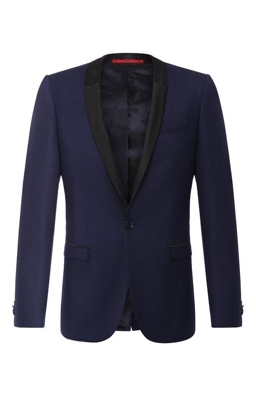 Однобортный пиджак из шерсти HUGO