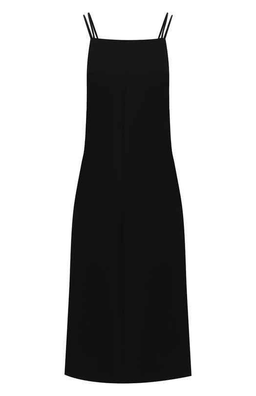 Купить Однотонное платье на тонких бретельках Rag&Bone, W284309N2, Китай, Черный, Полиэстер: 61%; Триацетат: 39%;