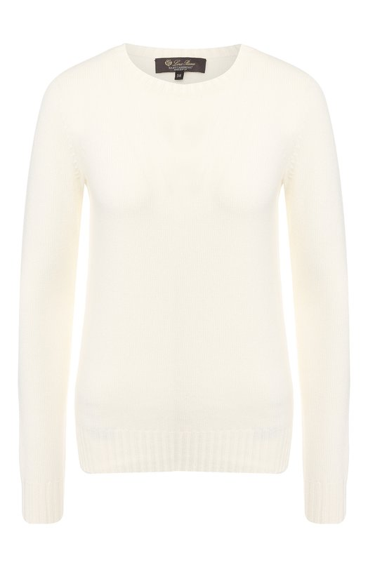 Кашемировый пуловер с круглым вырезом Loro Piana, Loro Piana
