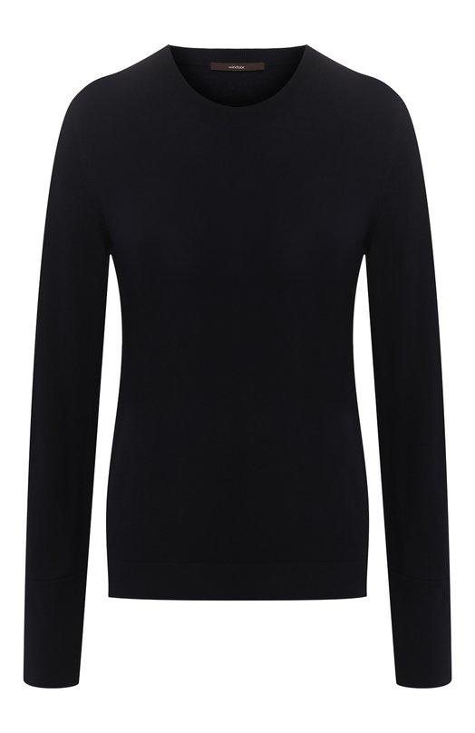 Купить Шерстяной пуловер с круглым вырезом Windsor, 52 DP821 10005439, Турция, Темно-синий, Шерсть: 100%;