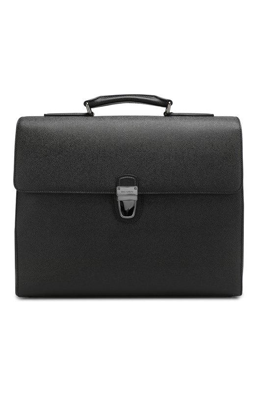 Кожаный портфель Ufficio с плечевым ремнем Dolce & Gabbana