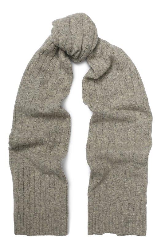 Купить Кашемировый шарф Polo Ralph Lauren, 455731025, Италия, Светло-серый, Кашемир: 100%;