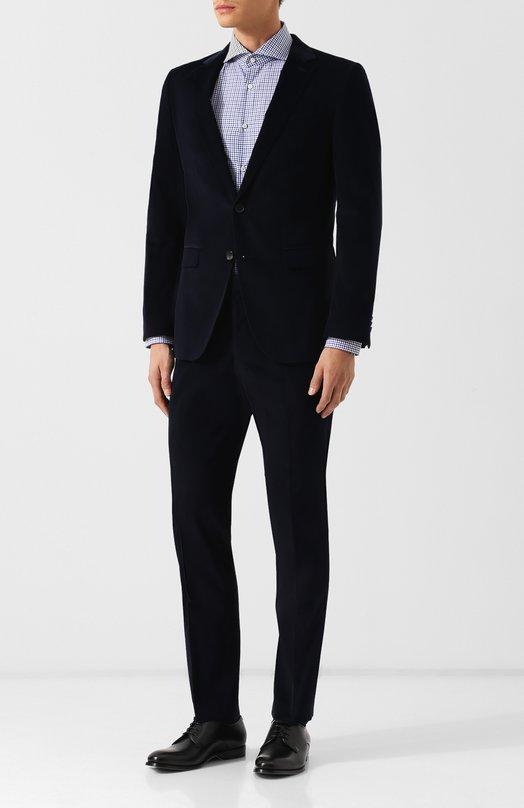Хлопковый костюм с пиджаком на двух пуговицах BOSS