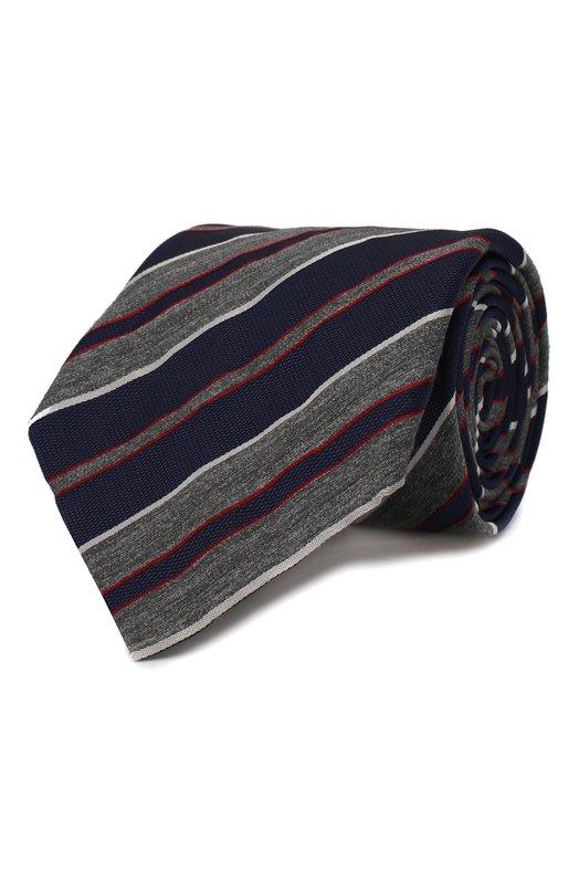 Купить Шелковый галстук с узором Brioni, 062I/04496, Италия, Синий, Шелк: 100%;