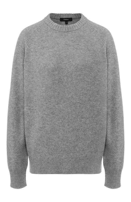 Купить Кашемировый пуловер с круглым вырезом Theory, I0818704, Китай, Серый, Кашемир: 100%;