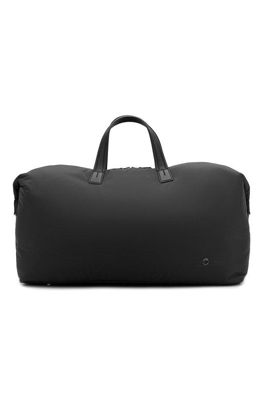 Купить Текстильная дорожная сумка с плечевым ремнем Loro Piana, FAF6681, Италия, Черный, Текстиль: 85%; Кожа: 15%; Отделка Кожа натуральная: 100%;