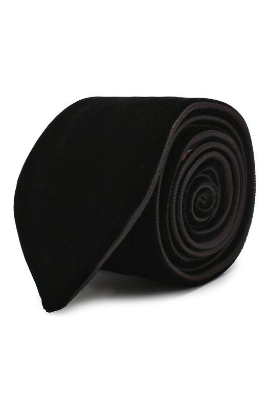 Купить Галстук из вискозы Giorgio Armani, 360088/8A961, Италия, Черный, Вискоза: 100%;