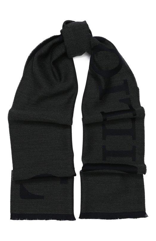 Купить Шерстяной шарф с необработанным краем Billionaire, 018A MAA0128 BTE033N, Италия, Черный, Шерсть: 100%;