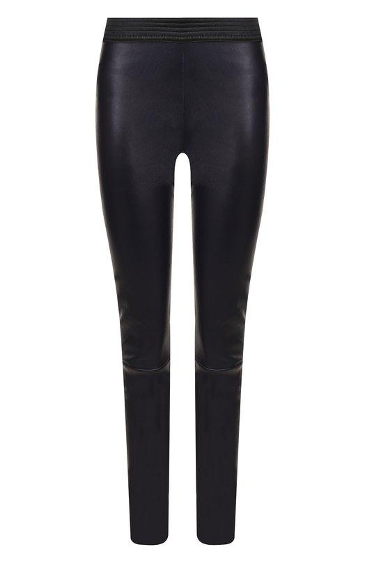 Кожаные брюки-скинни с эластичным поясом DROMe