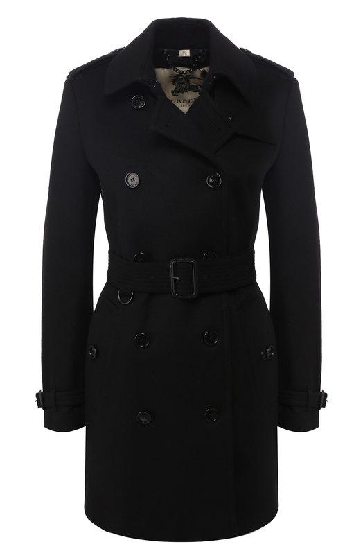 Купить Пальто с поясом из смеси шерсти и кашемира Burberry, 3926955, Босния и Герцеговина, Черный, Шерсть овечья: 80%; Шерсть: 80%; Подкладка-вискоза: 50%; Подкладка-ацетат: 50%; Кашемир: 20%;