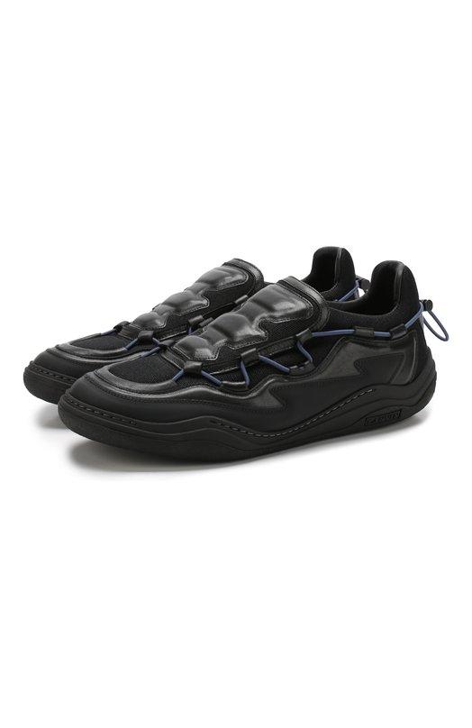 Комбинированные кроссовки на шнуровке Lanvin