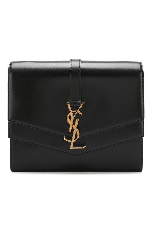 Купить Сумка Sulpice medium Saint Laurent, 532629/0SX0W, Италия, Черный, Кожа натуральная: 100%;
