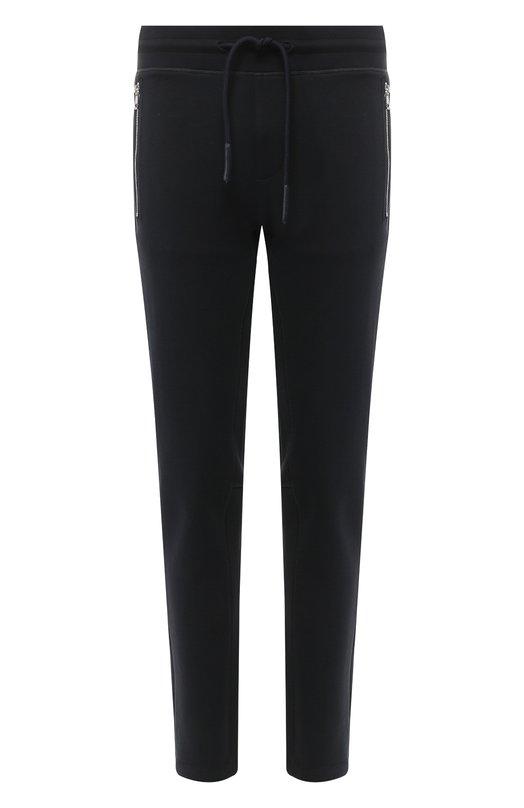 Купить Хлопковые брюки прямого кроя Moncler, D2-091-87039-00-80473, Турция, Темно-синий, Хлопок: 100%;
