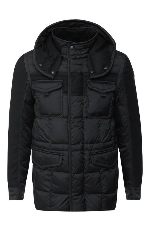 Купить Пуховая куртка Jacob на молнии с капюшоном Moncler, D2-091-41395-85-53227, Румыния, Черный, Наполнитель-Гусиный пух: 90%; Подкладка-Полиамид: 100%; Полиамид: 100%; Наполнитель-Гусиное перо: 10%;