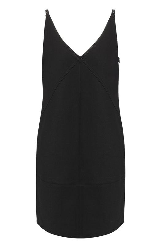 Купить Мини-платье на бретельках с V-образным вырезом Helmut Lang, I06HW601, Китай, Черный, Полиамид: 63%; Хлопок: 34%; Эластан: 3%;